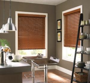 faux wood blinds