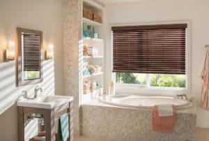 Faux Wood Blinds Bathroom