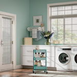 Aluminum Blinds Laundry Room