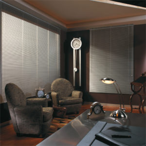 aluminum blinds grey