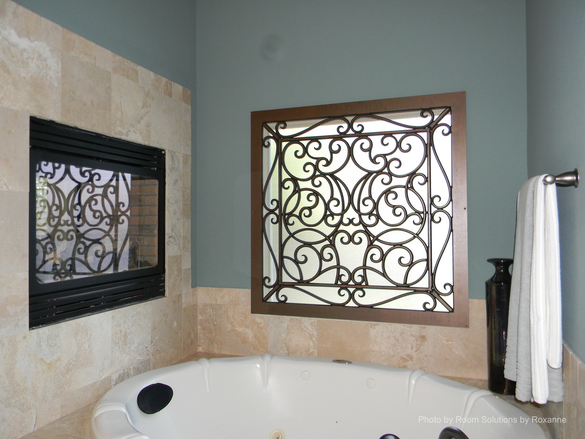 Faux iron grilles decorative and custom options for Fancy window design