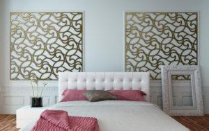 faux iron wall decor