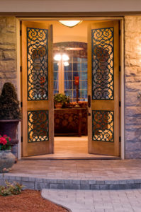 faux iron front door
