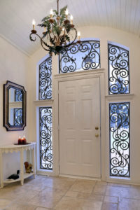 faux iron front entrance