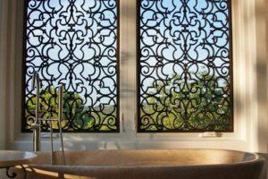 Tableaux Faux Iron Bathroom Window
