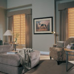 Wood Blinds Sitting Area