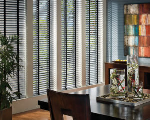 Faux Wood Blinds Dining Area