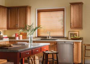 Faux Wood Blinds Kitchen
