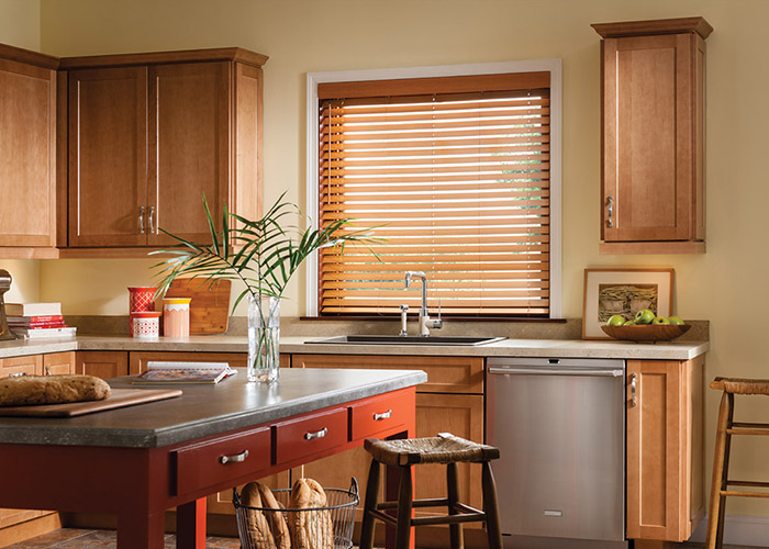Faux Wood Blinds Spa Kitchen