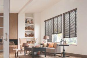 Wood Blinds Living Room