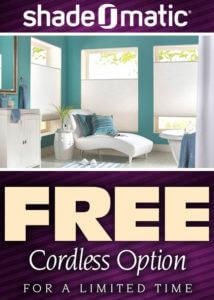 Shade-O-Matic Free Cordless Option